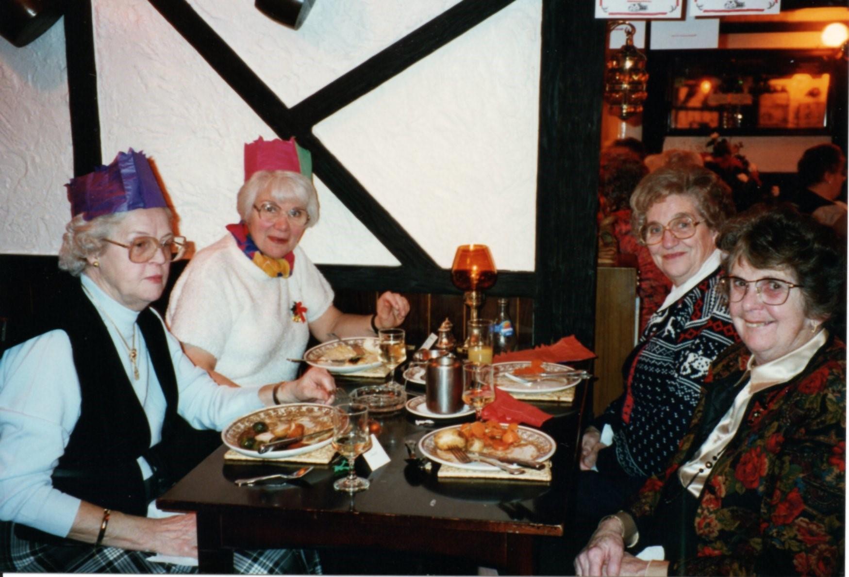 W I Dec. 1996.  Rotha Grace, Pat Bamford, ?, Barbara Hort