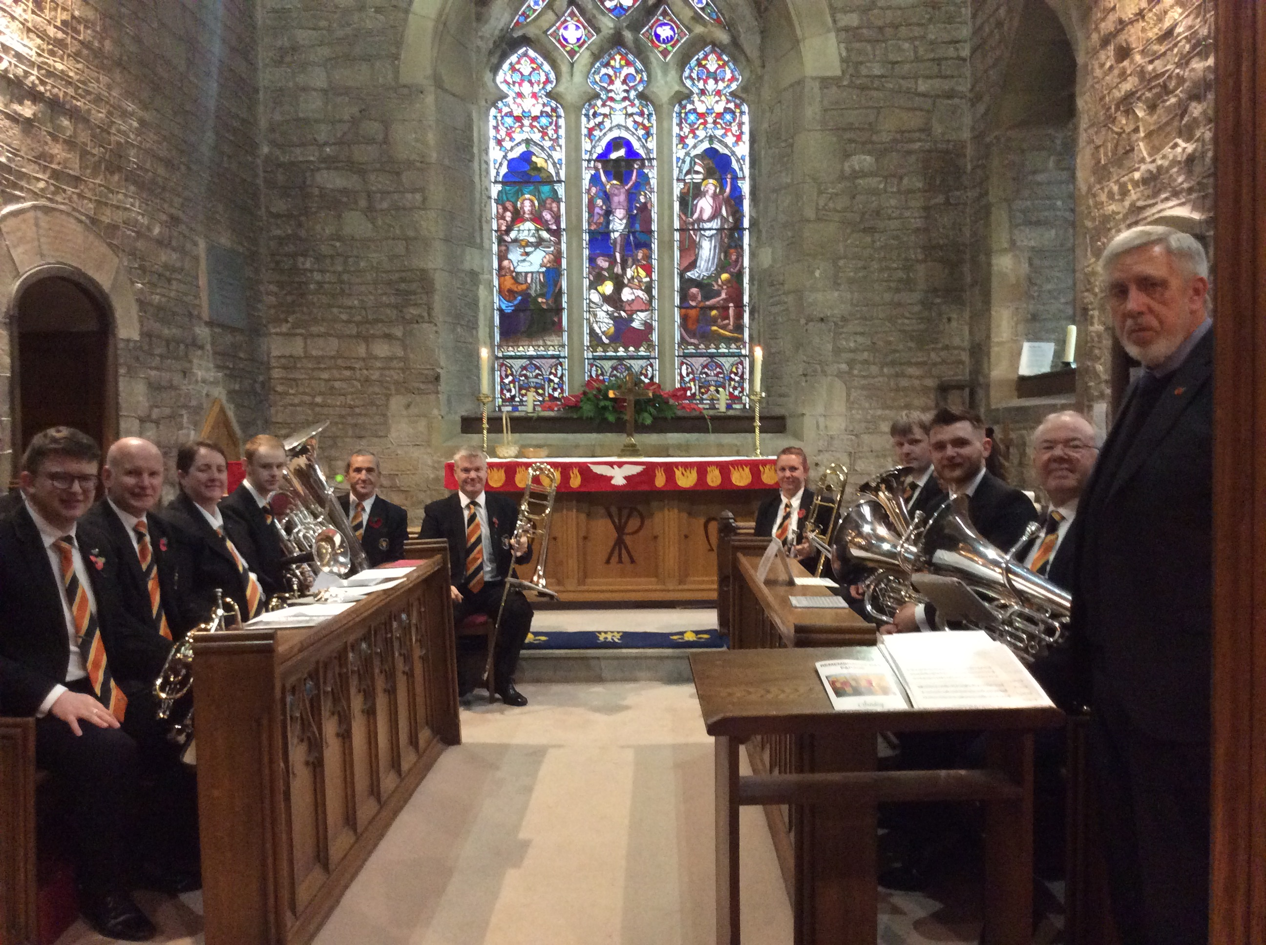 The renowned Thoresby Band.