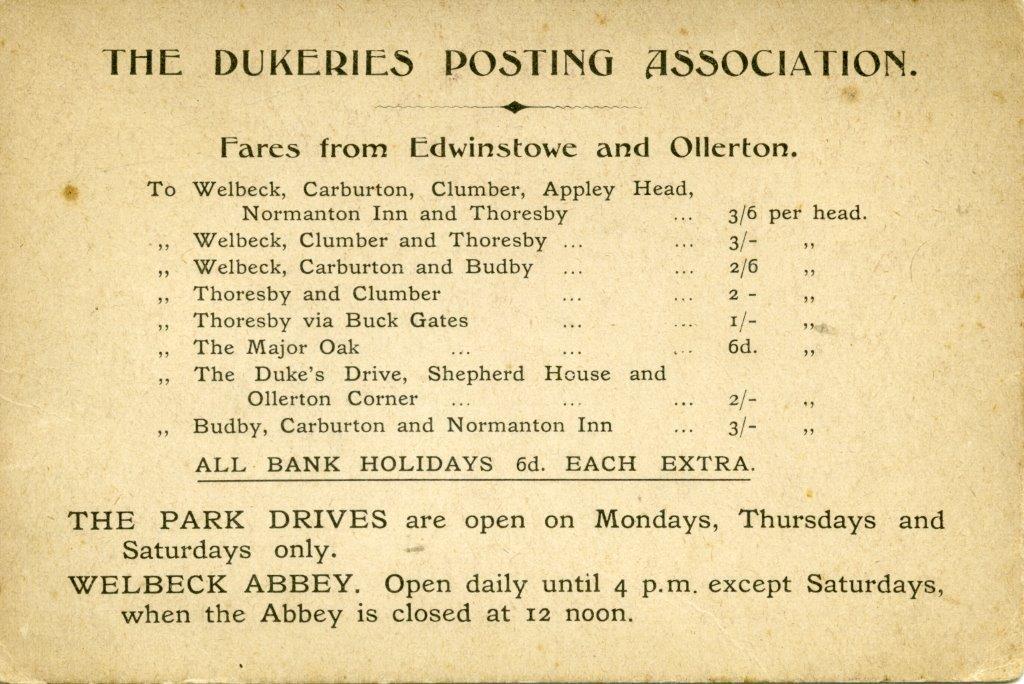 The Dukeries Posting Association n.d.