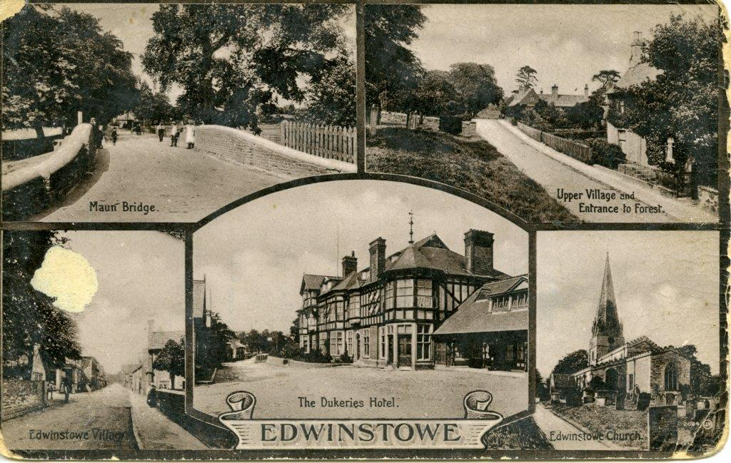 Edwinstowe Views Postcard