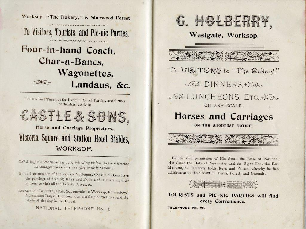 Dukeries Carriage Tours c1910