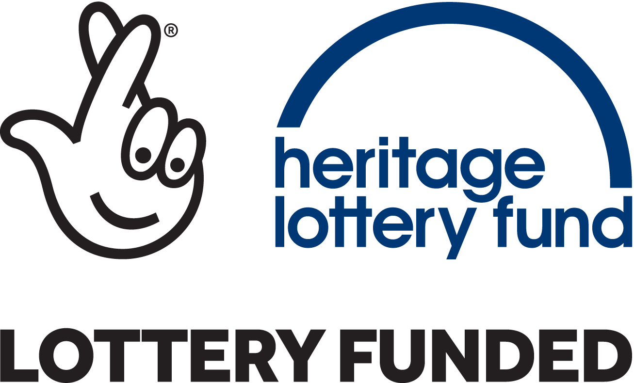 heritage lottery fund, lottery funded banner